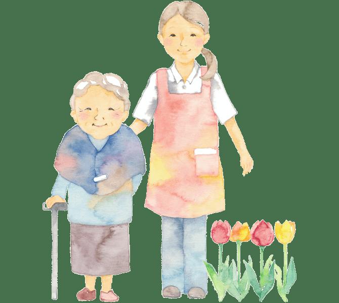 おかがわ内科デイサービス大和では、おかがわ内科とも連携し、住宅型有料老人ホーム大和の充実した施設での1日をお過ごしいただいています。