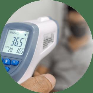 出勤職員の体温測定 体調自己点検報告